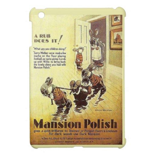 Publicidad del vintage, polaco de la mansión iPad mini coberturas