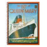 Publicidad del vintage, RMS Queen Mary Libro De Apuntes Con Espiral
