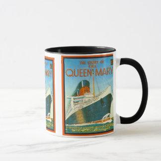 Publicidad del vintage, RMS Queen Mary Taza