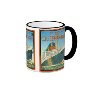 Publicidad del vintage, RMS Queen Mary Taza De Dos Colores