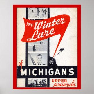 Publicidad del vintage, señuelo del invierno de Mi Póster