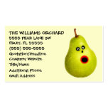Publicidad divertida del cultivador de la pera tarjetas personales