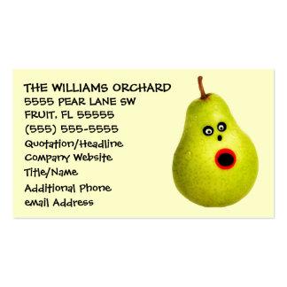 Publicidad divertida del cultivador de la pera tarjetas de visita