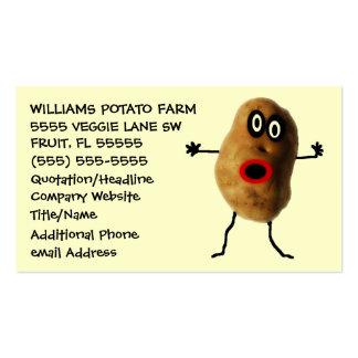 Publicidad divertida del granjero de la patata tarjetas de visita