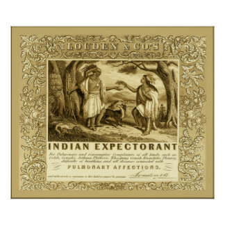 Publicidad expectorante india del vintage del ~ de posters