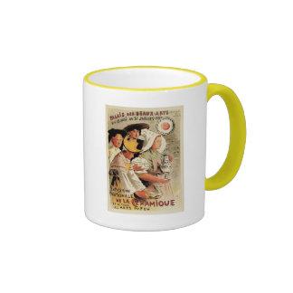 Publicidad francesa de la expo de la cerámica de taza de dos colores