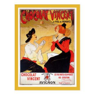 Publicidad francesa del chocolate del vintage postal