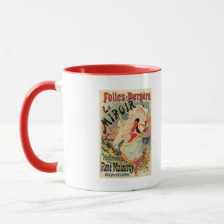Publicidad francesa del teatro del mime de la taza