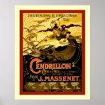 Publicidad francesa del teatro del vintage del ~ d poster