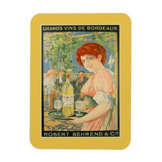 Publicidad francesa del vino de Burdeos blanco del Imanes