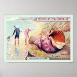 Publicidad francesa del vintage del ~ de Chocolat  Poster