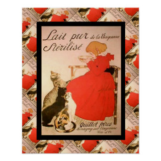 Publicidad francesa del vintage, Lait Pur Posters