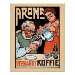 Publicidad holandesa del reemplazo del café del vi posters