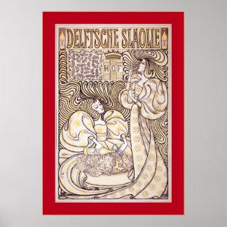 Publicidad holandesa del vintage del ~ de Delftsch Poster