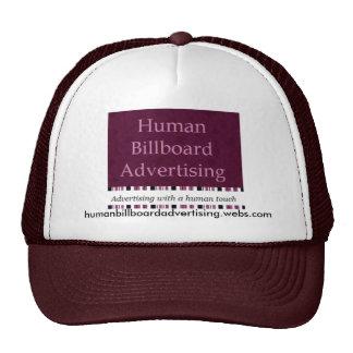 Publicidad humana de la cartelera - gorra 1