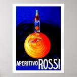Publicidad italiana del aperitivo del vintage impresiones