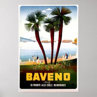 Publicidad italiana del viaje de Baveno del vintag Poster