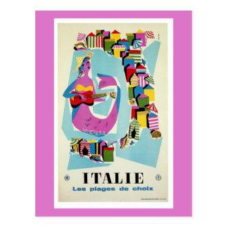 Publicidad italiana del viaje de Italia del Postal