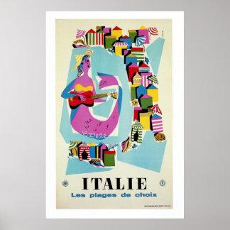 Publicidad italiana del viaje de Italia del vintag Impresiones