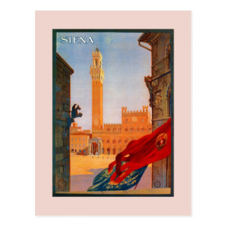 Publicidad italiana del viaje de Siena del vintage Postal