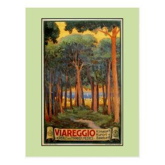 Publicidad italiana del viaje de Viareggio del Tarjetas Postales