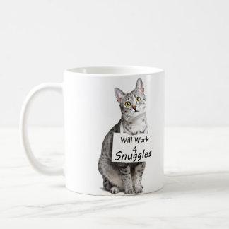 Publicidad linda del gato de Mau del egipcio para  Tazas