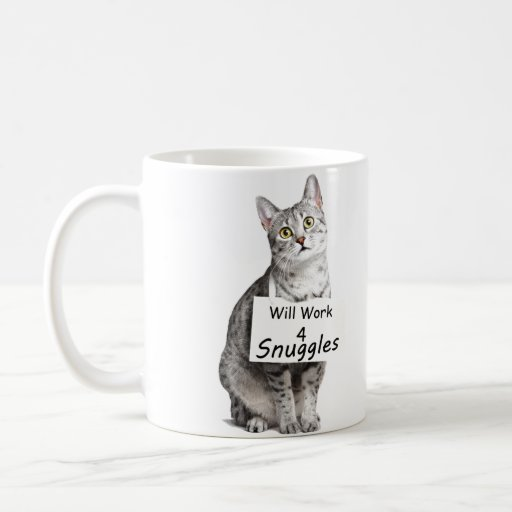 Publicidad linda del gato de Mau del egipcio para Taza Clásica