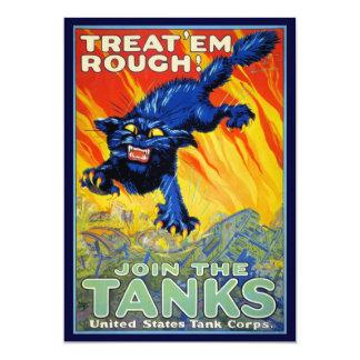 Publicidad militar de la guerra del vintage con un