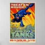 Publicidad militar de la guerra del vintage con un póster