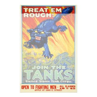 Publicidad militar de la guerra del vintage con un  papeleria