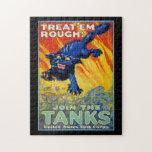 Publicidad militar de la guerra del vintage con un puzzles con fotos