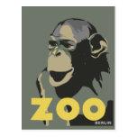 Publicidad retra del viaje del mono de Berlín del  Tarjeta Postal