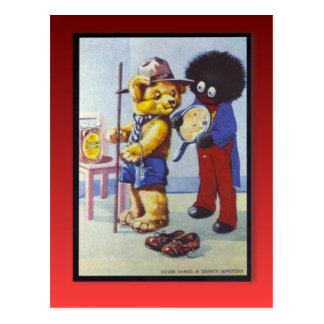 Publicidad retra del vintage, mermelada de oro de  postal