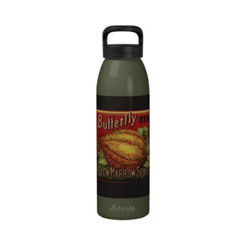 Publicidad vegetal de la antigüedad de la etiqueta botella de agua