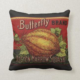 Publicidad vegetal de la antigüedad de la etiqueta almohada