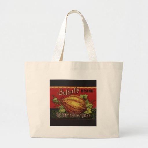 Publicidad vegetal de la antigüedad de la etiqueta bolsas