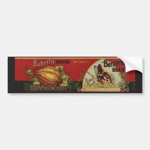 Publicidad vegetal de la antigüedad de la etiqueta etiqueta de parachoque