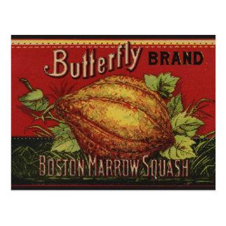 Publicidad vegetal de la antigüedad de la etiqueta postales