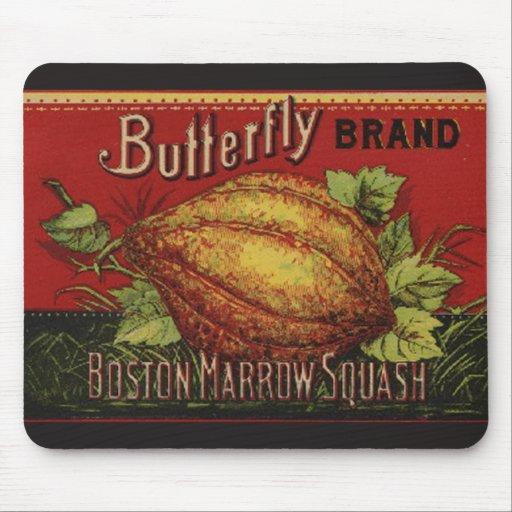 Publicidad vegetal de la antigüedad de la etiqueta tapete de ratones