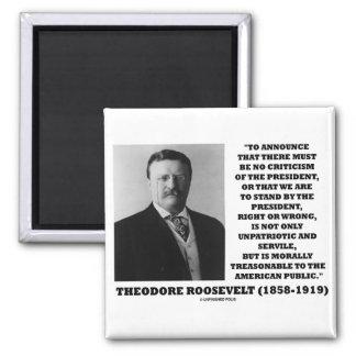 Público americano traidor de Theodore Roosevelt Iman De Frigorífico