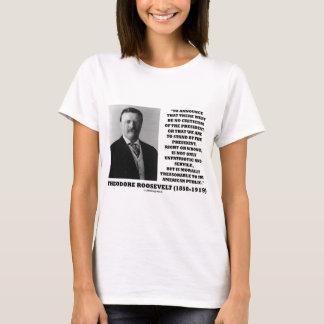 Público americano traidor de Theodore Roosevelt Playera