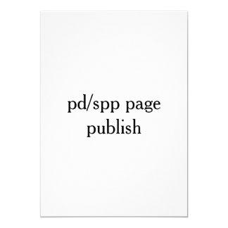 publique de la página de pd/spp invitación 12,7 x 17,8 cm