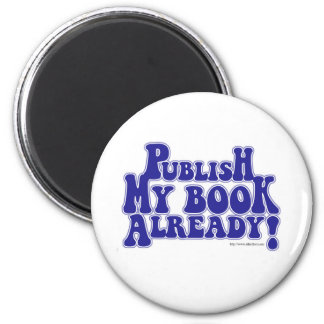 Publique mi estilo del azul del libro imán redondo 5 cm