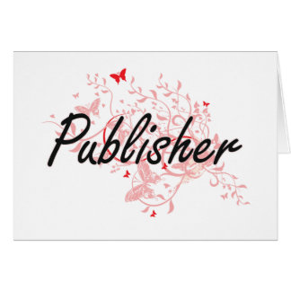 Publisher Artistic Job Design with Butterflies Card