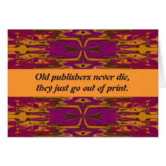 publishers humor card