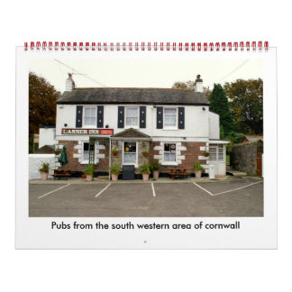 , Pubs del área occidental del sur de Cornualles… Calendario De Pared