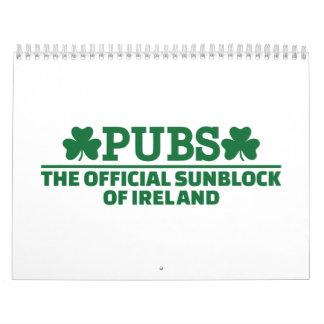 Pubs official sunblock of Ireland Wall Calendars