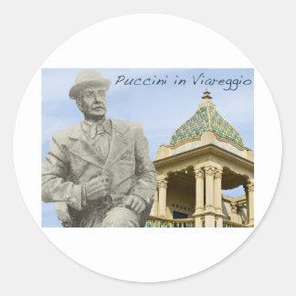 Puccini en el color de Viareggio Pegatina