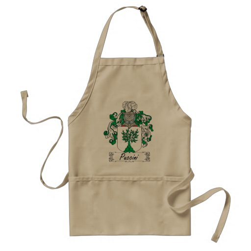 Puccini Family Crest Adult Apron