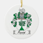 Puccini Family Crest Double-Sided Ceramic Round Christmas Ornament